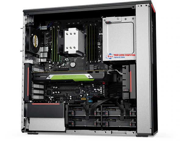 Bảng điều khiển bên Lenovo ThinkStation P520 đã loại bỏ giao diện phần cứng mở